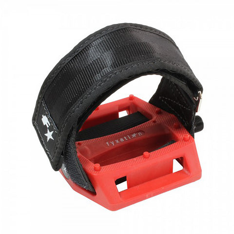 Fyxation Gates Pedal with Strap Kit Red