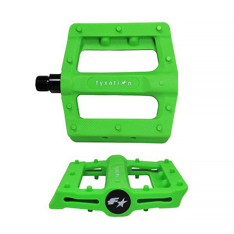 Fyxation Gates Slim Platform Pedal Green