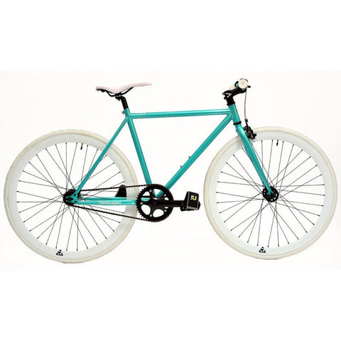 Retrospec Mantra Fixed-Gear / Single-Speed - Turquoise and White