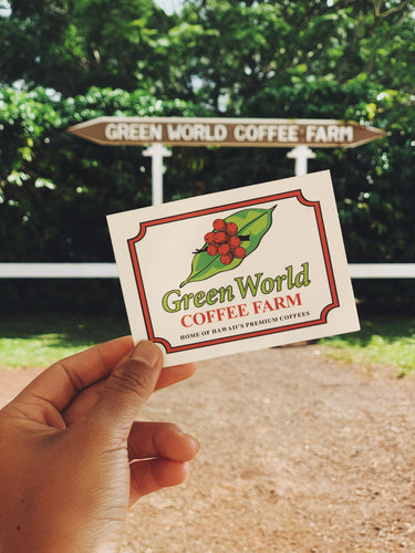 Green World Logo Sticker