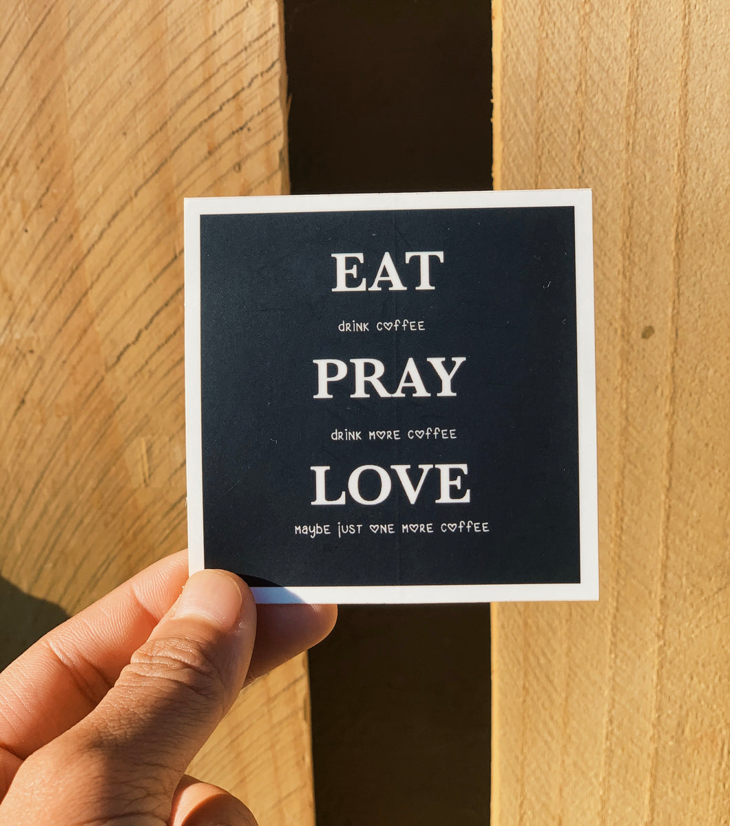 Eat Pray Love Logo Sticker