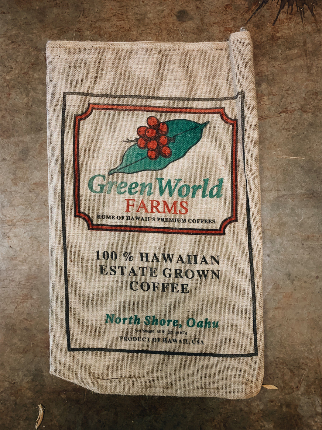 Burlap Sack - Green World Logo