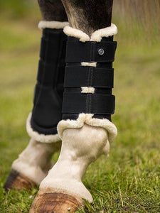 Brushing Boots BLACK (Front&Hind) - PS Bridles