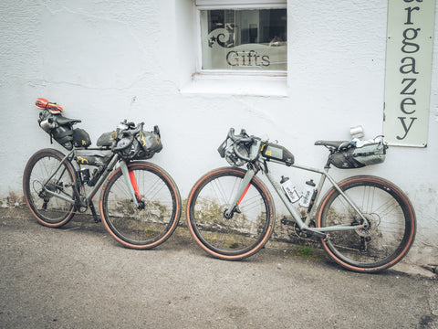 Two bikes in Porthleven