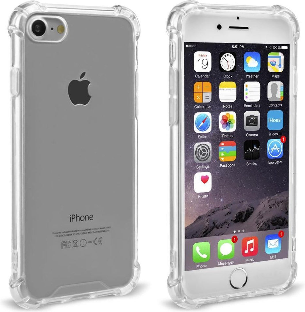 iPhone 6 / 6s Hoesje - 1.2 mm Protection case Transparant - Super bescherming