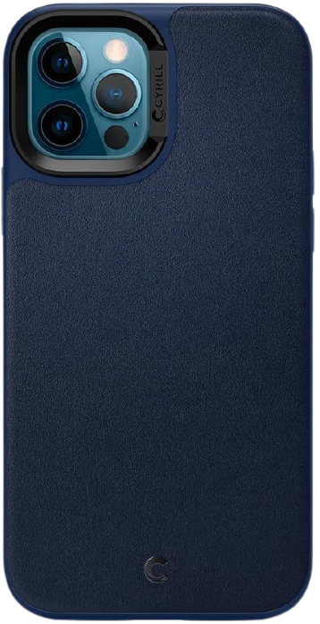 Spigen Leather Brick Hoesje voor Apple iPhone 12/12 Pro - Navy