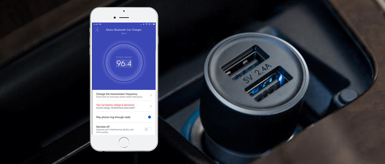 Xiaomi Roidmi 3S Car Charger + Transmiter FM Bluetooth