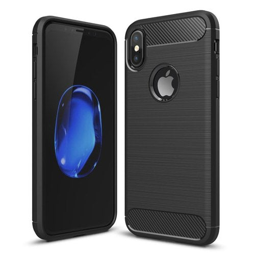 Carbon Case Flexibele Cover TPU Case for iPhone Xr