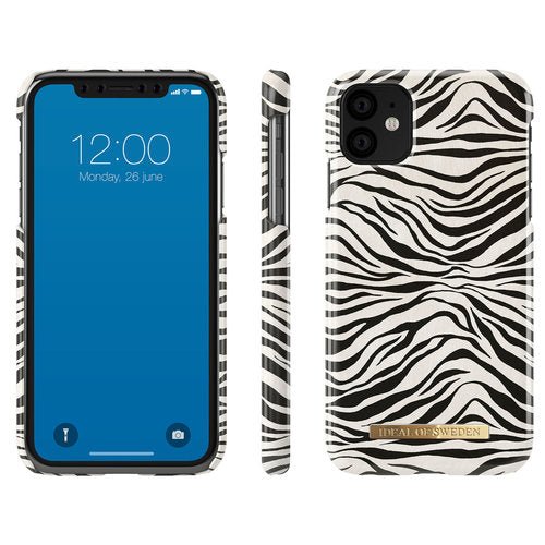 iDeal of Sweden - iPhone 11 Hoesje - Fashion Back Case Zafari Zebra