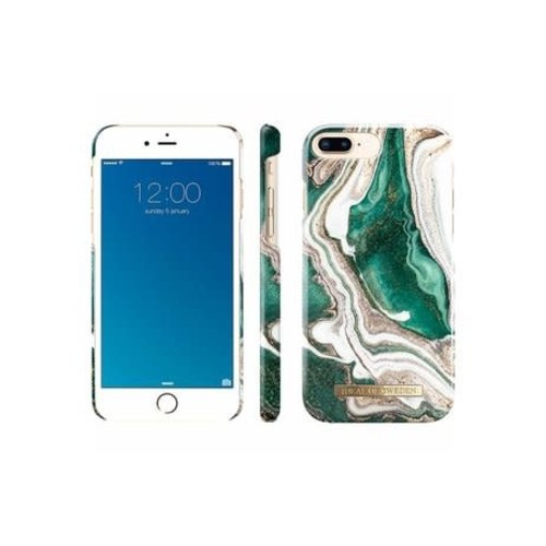 iDeal of Sweden Fashion Back Case Golden Jade Marble voor iPhone 8 Plus / 7 Plus / 6S Plus / 6 Plus