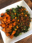 Curried Chickpea and Sweet Potato Quinoa Power Bowl (Gluten Free)