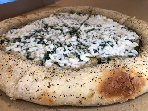 Stuffed Crust Spinach Artichoke Cream Pizza (Delivered 11/10)