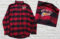 Red Flannel Embroidered