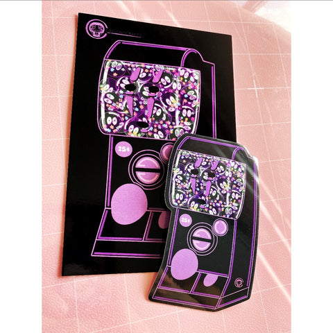 No Face Gachapon Art Print & Sticker pack