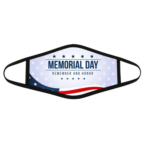 Remember and honor - Polyblend Face Mask