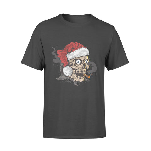 Santa Claus Skull Smoking Cigarette- Standard T-shirt