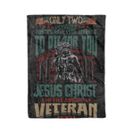 Jesus Christ and Veteran - Fleece Blanket