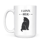 I Love Her Cat - White Mug