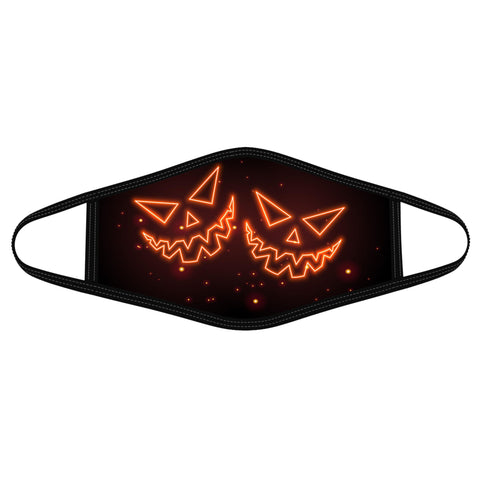 Glowing Pumpkin Smile Polyblend Face Mask