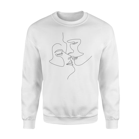 Couple illustration - Standard Crew Neck Sweatshirt