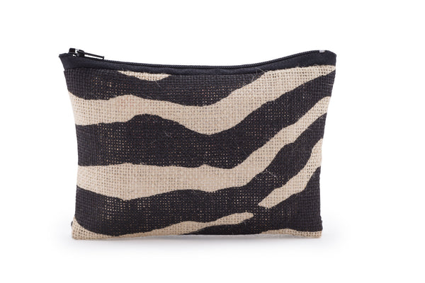 Hessian / Jute Travel Bag - Zebra