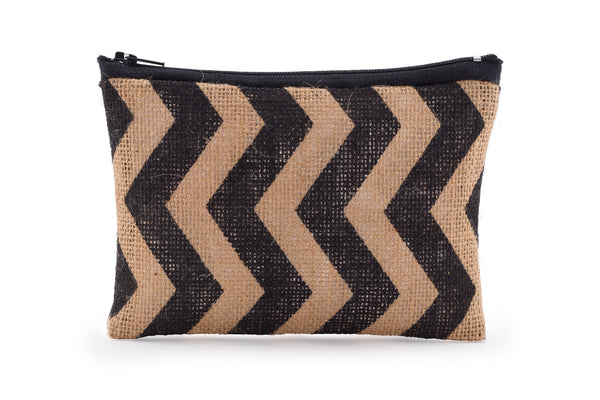 Hessian / Jute Travel Bag - Chevron