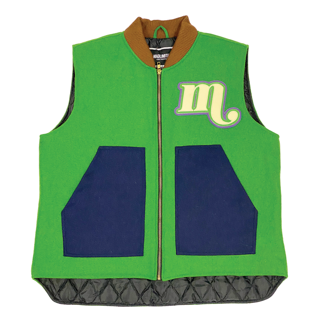 Veneer Vest (Green/Purple/Brown)