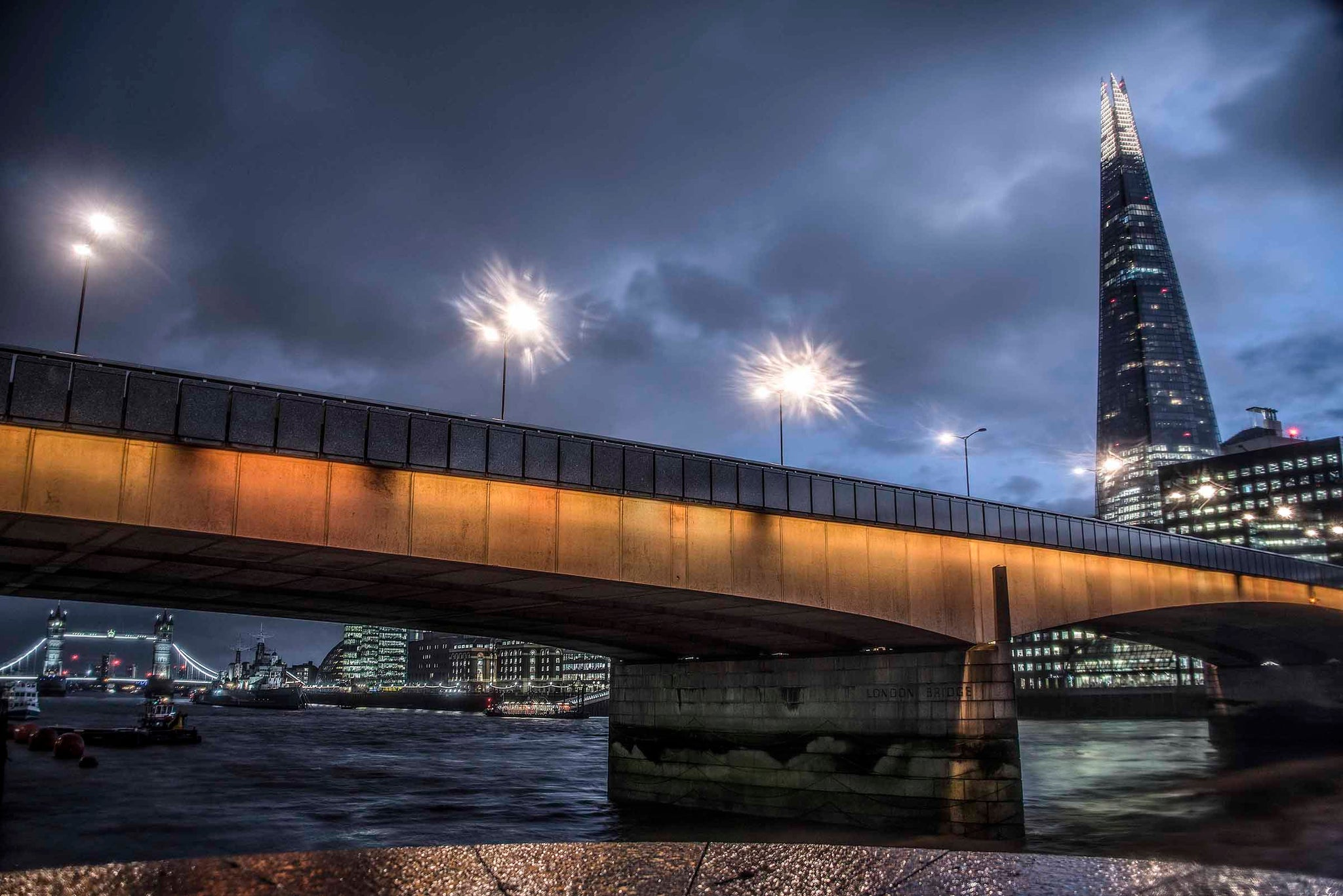 London Bridge and The Shard at night