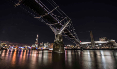 The Millennium Bridge at night