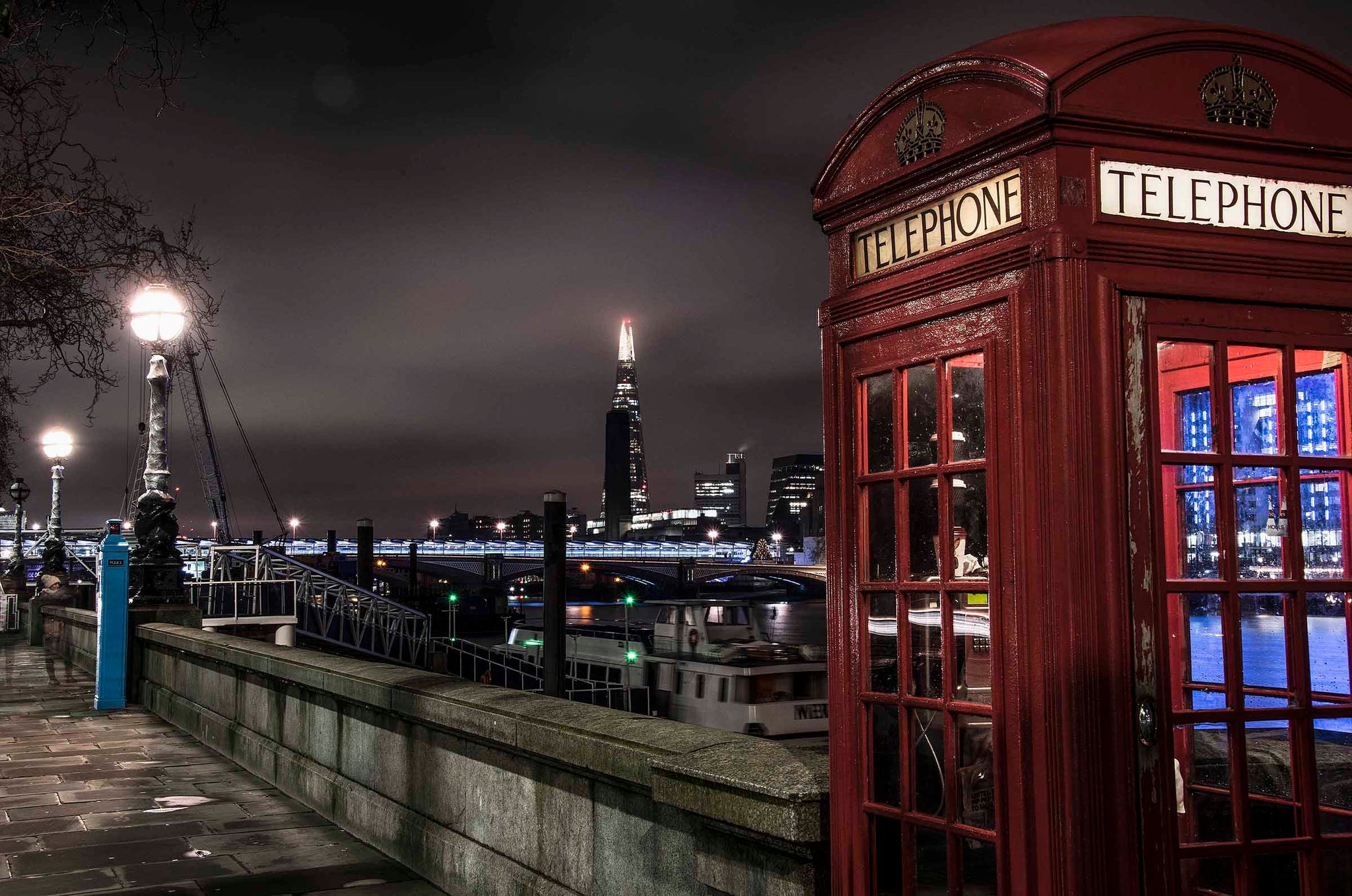 Red Telephone Booth and The Shard
