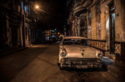 Side Street at Night, Havana, Cuba