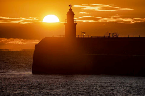 Sunrise over the Harbour Arm Lighthouse, Folkestone