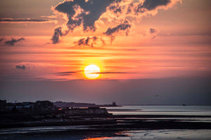 Sunset over Margate and Reculver