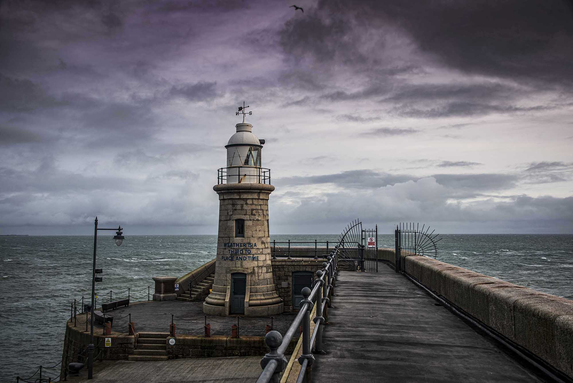 Lighthouse and Harbour Arm, Folkestone