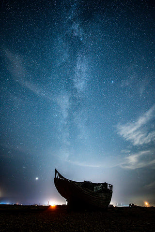 Milky Way and Fishing Boat, Dungeness