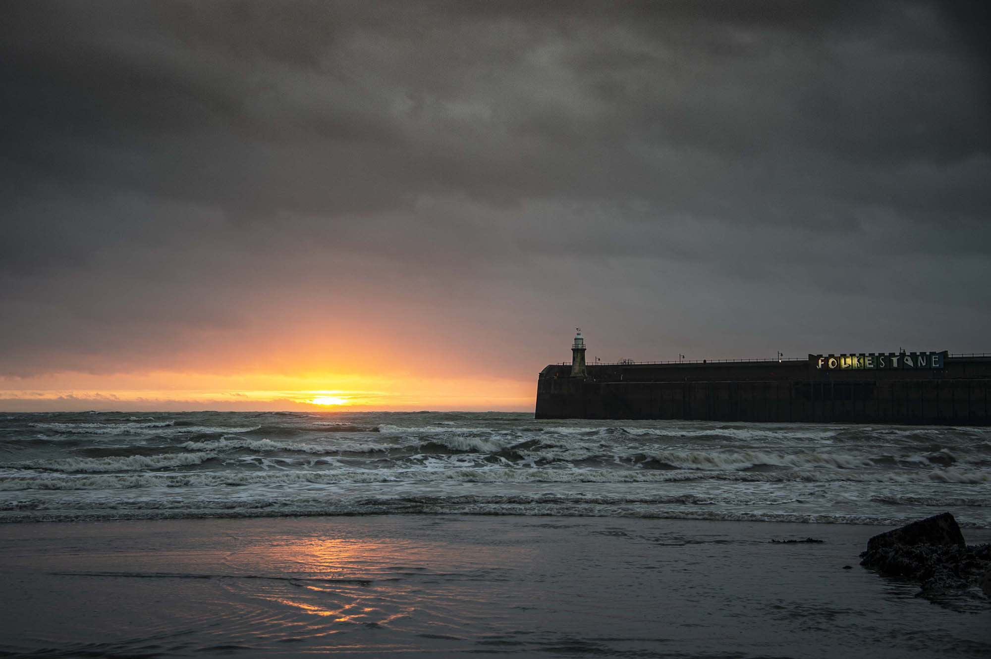 A Stormy Sunrise and the Light House