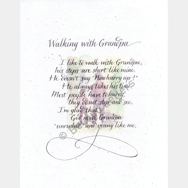 Walking with Grandpa | Beyond Letters