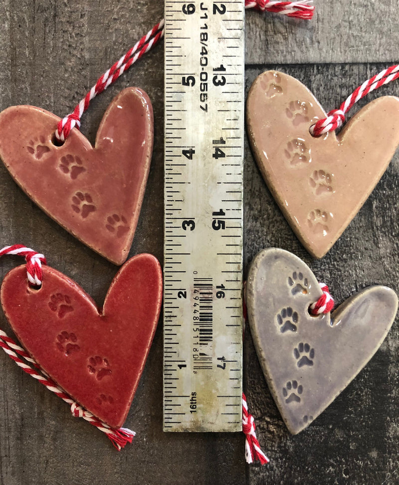 Ornament - Pawprint Heart