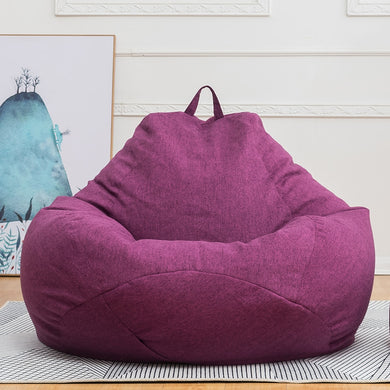 New Lazy Bean Bag Sofas Cover Chairs without Filler Linen Cloth Lounger Seat Bean Bag Puff Couch Tatami Living Room Furniture
