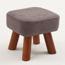 Load image into Gallery viewer, Small family stool wooden square fashion creative adult living room children's sofa tea table stool pouf ottoman kids furniture