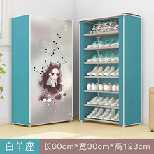 Load image into Gallery viewer, 12 constellations Double Rows High Quality Shoes Cabinet Shoes Rack Large Capacity Shoes Storage Organizer Shelves DIY Furniture