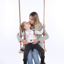 Load image into Gallery viewer, Adults Children swing chair swing Rocking Wooden Chair garden furniture Outdoor Garden Swings with Rope