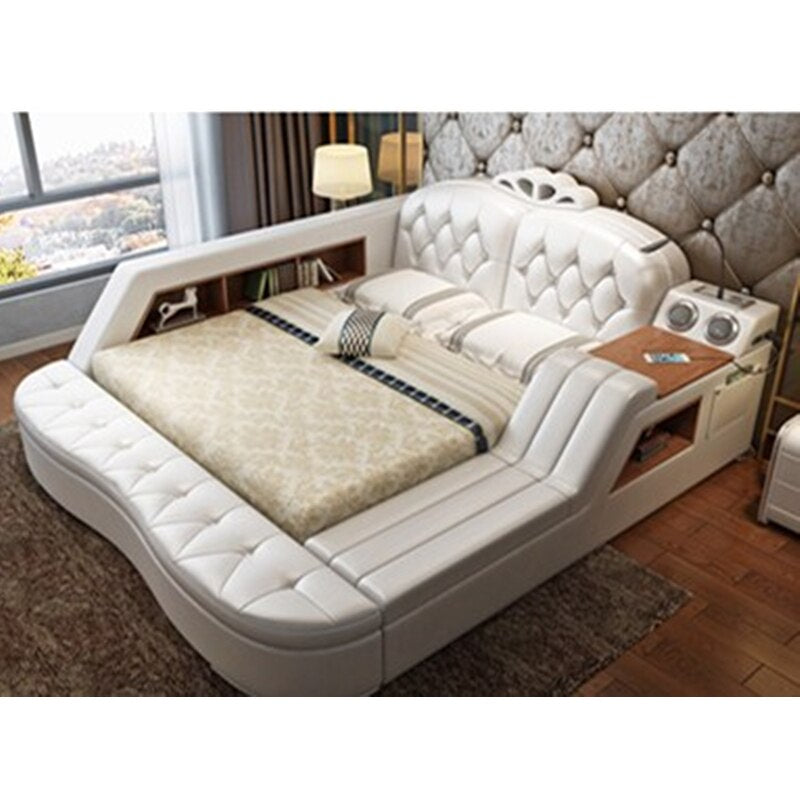 New hot Custom Leather bed Modern fashion room furniture Storage massage bed modern bed