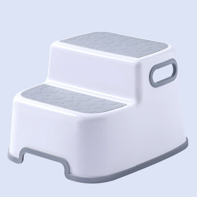 Stool Bathroom Hand Washing Bath Stepping Double Cushioned Footstool Baby Non-slip Children Small Platform Kids Furniture #G2
