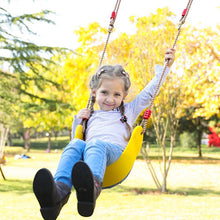 Load image into Gallery viewer, Patio Swings For Children Outdoor Furniture Swing Rope Seat For Kids EVA Soft Board U shaped indoor swingset Playground Toy BS