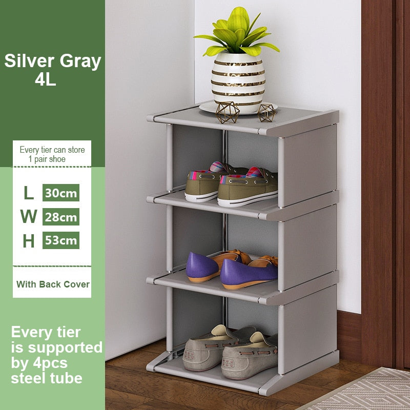 Vertical Shoe Rack Removable Shoe Organizer Shelf Living Room Corner Shoe Cabinet Home Furniture Shoes Storage for Closet