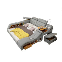 Load image into Gallery viewer, New hot Custom Leather bed Modern fashion room furniture Storage massage bed modern bed