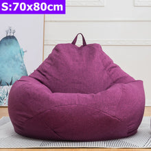 Load image into Gallery viewer, New Lazy Bean Bag Sofas Cover Chairs without Filler Linen Cloth Lounger Seat Bean Bag Puff Couch Tatami Living Room Furniture