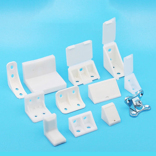 10Pcs Nylon plastic thickened corner furniture, right angle 90 degree angle, plywood tray cabinet fittings fittings corner code