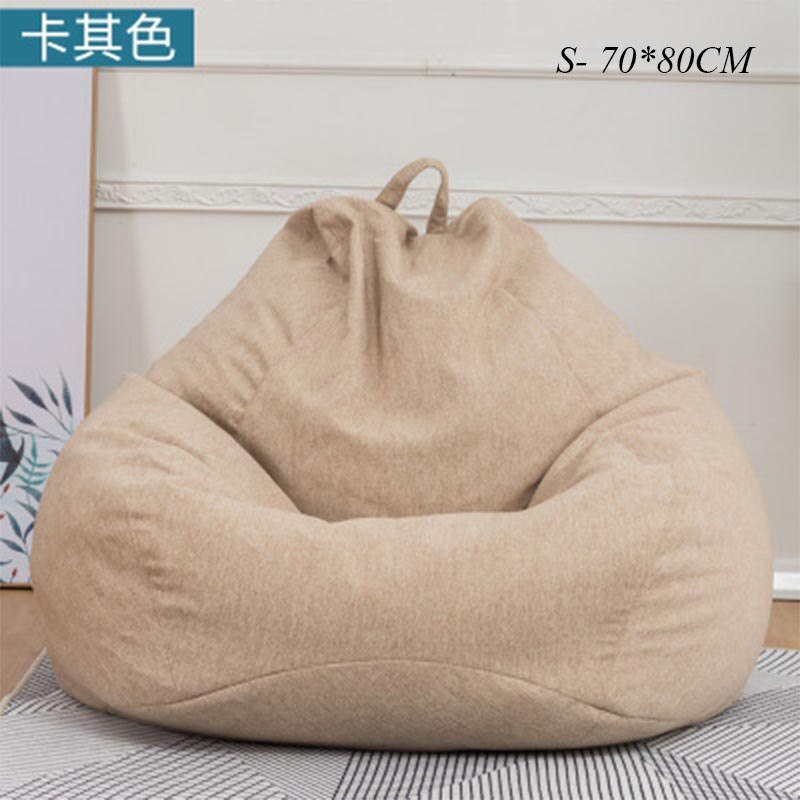 Bean Bag Sofa Chairs Cover Without Filler Pouf Lounger Chaise Living Room Furniture Puf Beanbag Sofas Ottoman Lazy Bag Office